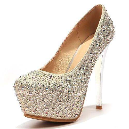 400de39e61 Amazon.com | Kaloosh Women's Beautiful Glitter Rhinestone Platform ...