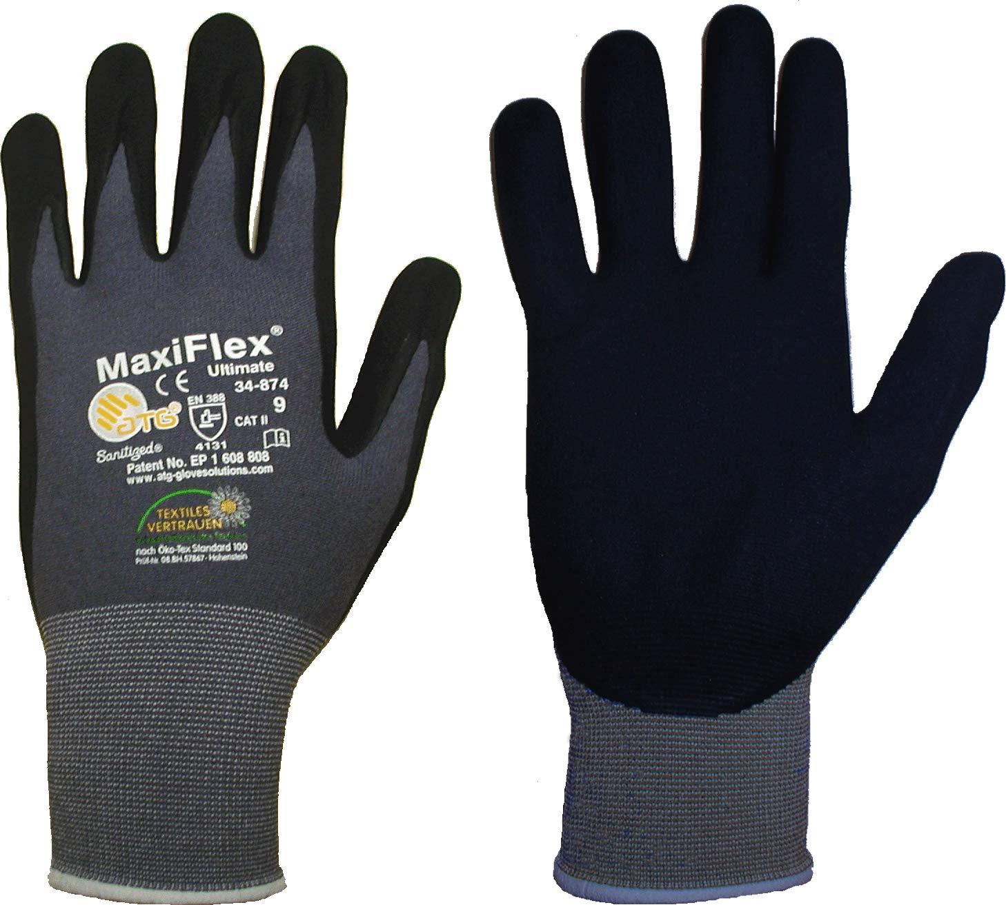 Gr/ö/ße:XXL 10er Pack MaxiFlex Ultimate 34-874 Arbeitshandschuhe Montagehandschuhe