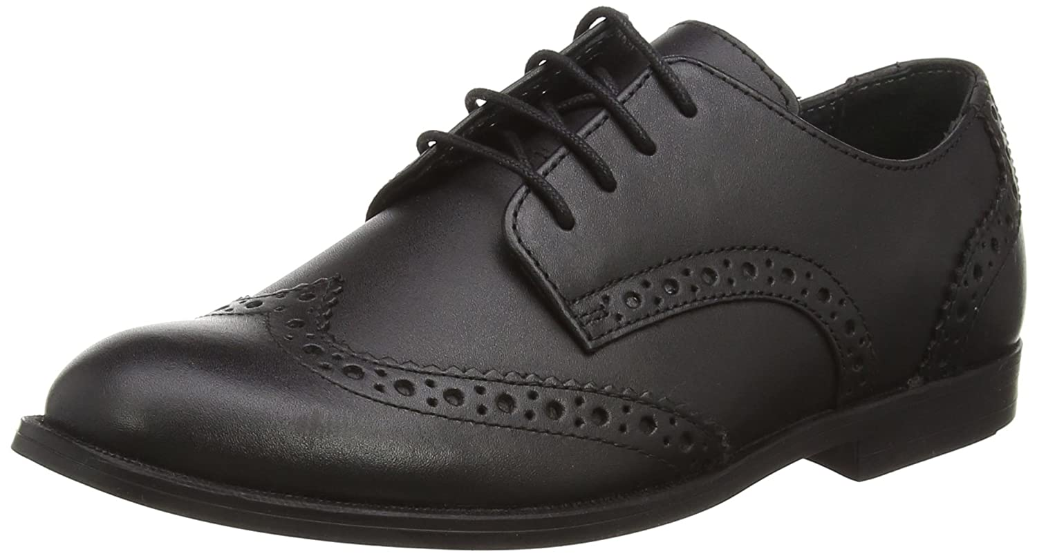 bd92d7cc0578f Start-rite Girls' Burford Black Leather G Fit Derbys: Amazon.co.uk: Shoes &  Bags