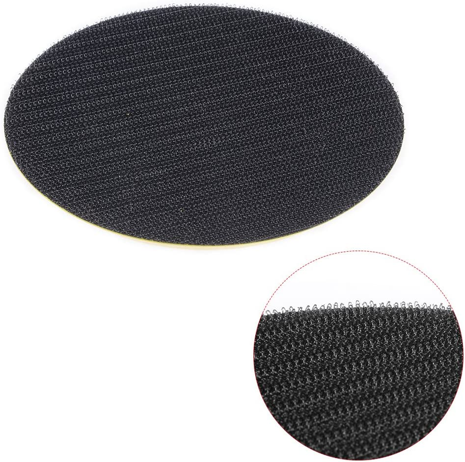 sourcingmap 5 Inch Hook and Loop Backing Sanding Pads with 5//16 Inch 24 Thread for Diamond Polishing Pads