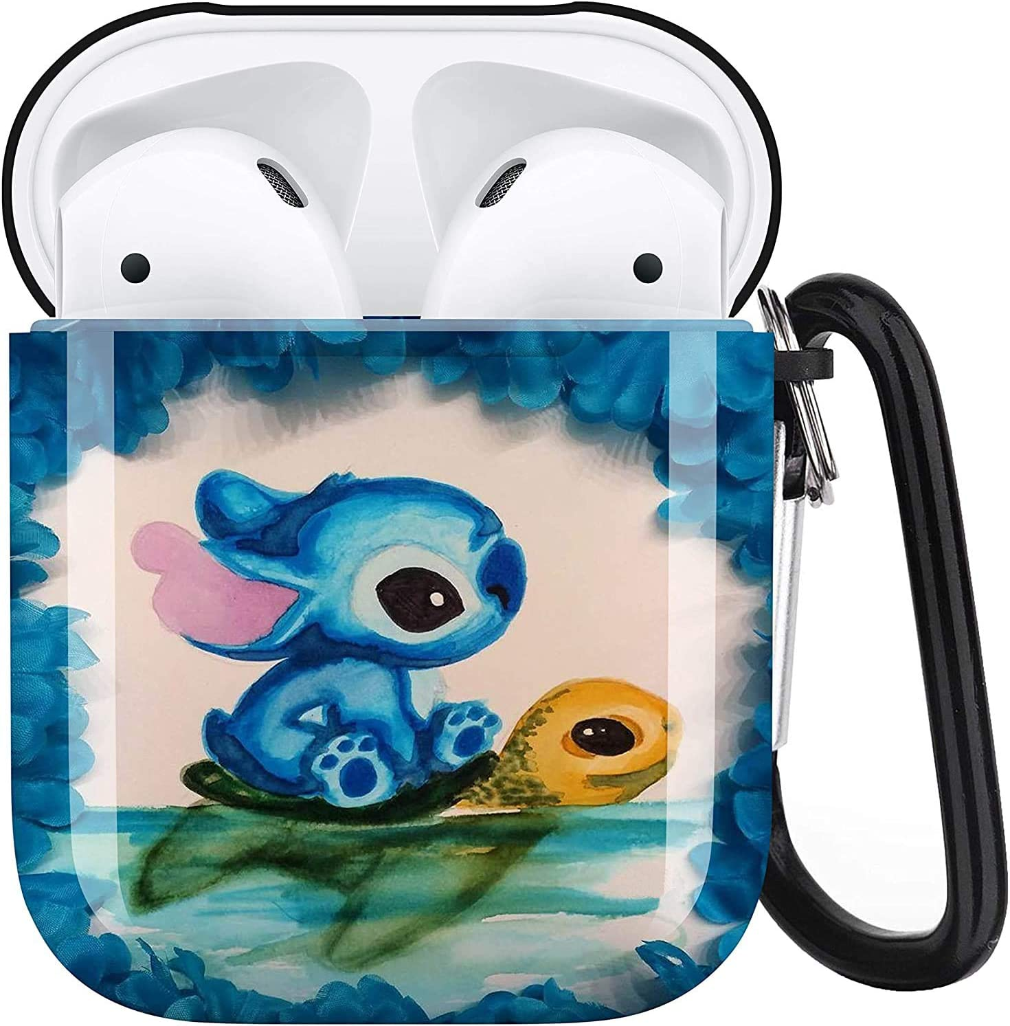 Stitch Aripod Personalise Custom, AirPod Case Cover Compatiable with Apple AirPods 1st/2nd,Full Protective Durable Shockproof Drop Proof with Keychain Compatible