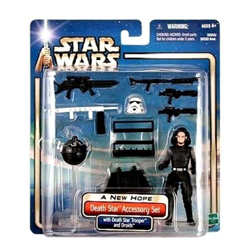 Star Wars A New Hope Death Star Accessory Set with Death Star Trooper 3 3//4 Inch Action Figure Hasbro 32533