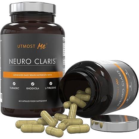 Suplemento nootrópico de Vitaminas para el cerebro - Tirosina, Cúrcuma, Rhodiola y otros 14