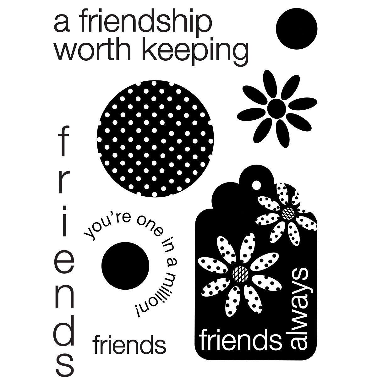 MSE Friends Always my Sentiments Briefmarken Bogen, 3 von 10,2 10,2 10,2 cm klar B002JPXJZM | Neuartiges Design  21bbb0