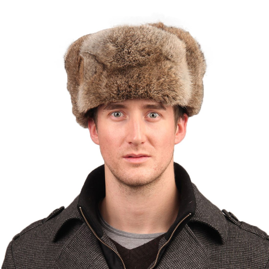 Men s Rabbit Full Fur Russian Ushanka Trooper Hats Multicolor (Brown) at  Amazon Men s Clothing store  4ec801e68842