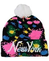 Beanie Hat Splash Paint Bobble Pom Pom Lots of Colours