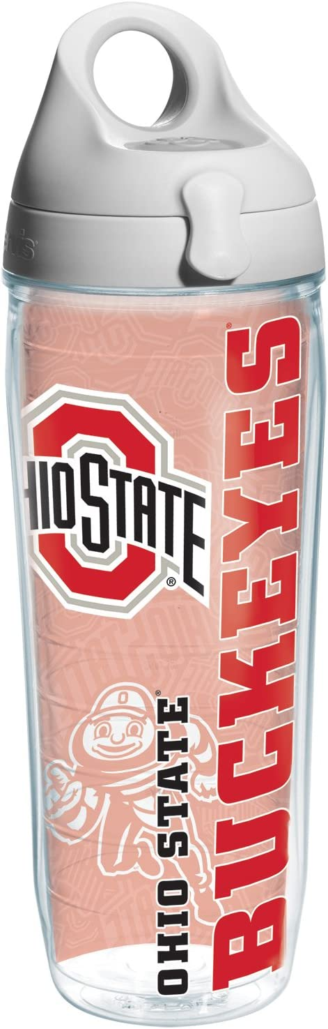 Tervis Ohio State College Pride Water Bottle with Grey Lid, 24 oz, Clear - 1215479