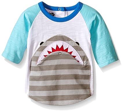 0884f570 Mud Pie Baby Boys' Raglan T-Shirt, Shark Flap Mouth, 12-18 Months ...
