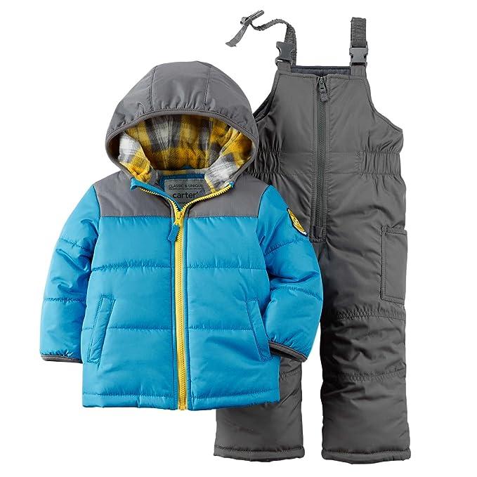 dc0eecba2 Carter s Baby Boys Colorblock Snowsuit Set - 12 Months  Amazon.ca ...