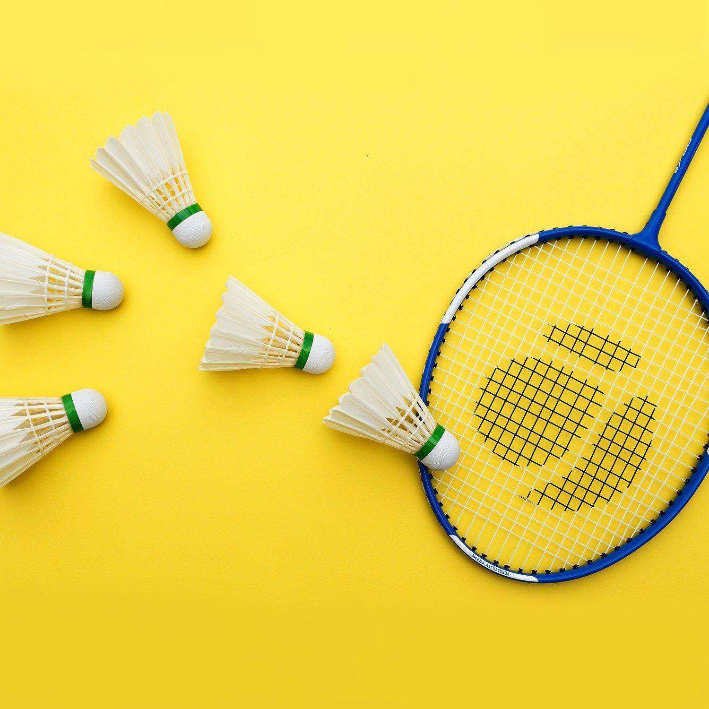 12 Pezzi Volani da Badminton durevole Volani per Badminton Volano Shuttlecocks,Oca piuma volani stabile durevole sport formazione badminton palle per interni gioco allaperto