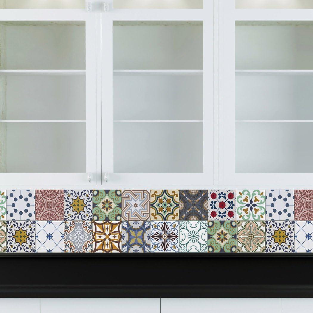 - Amazon.com: RoyalWallSkins Decorative Tile Decals 4x4 Inch - Set