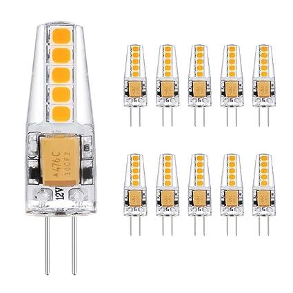 Ascher 10X G4 2W Bombilla lámpara LED, 20W Igualdad A, 220 Lumen,10