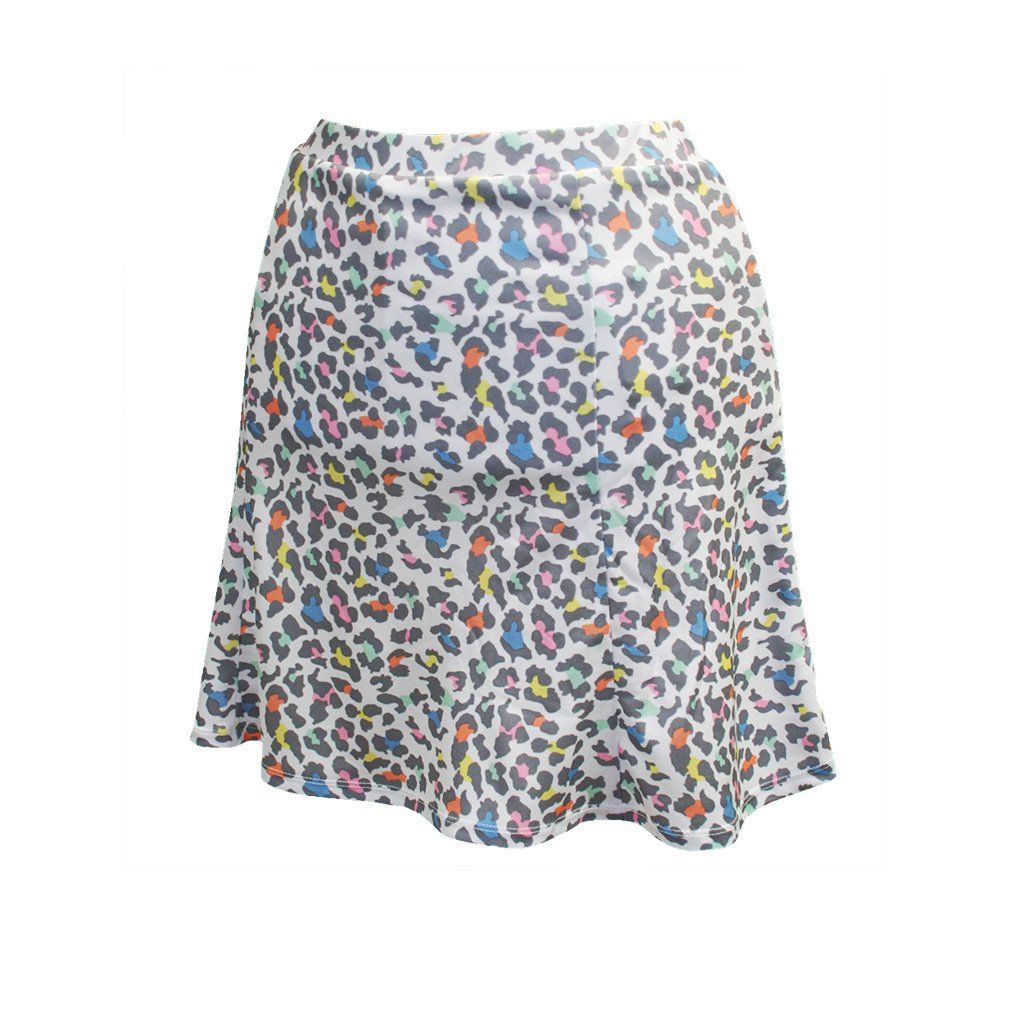 Monterey Club Ladies Dry Swing Mini Leopard Pull on Skort #2926 (White/Rose Quartz, X-Large) by Monterey Club