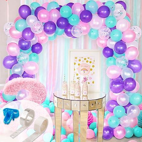 Amazon.com: Juego de globos de ballena y guirnalda, globos ...