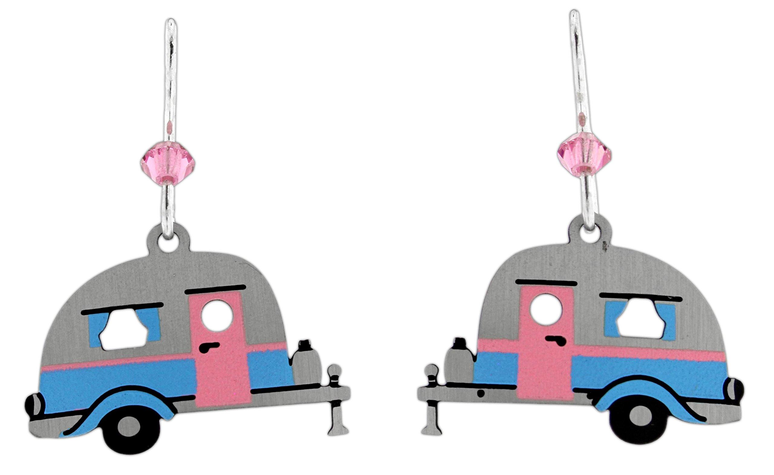 Sienna Sky RV Trailer Dangle Earrings (Silver)