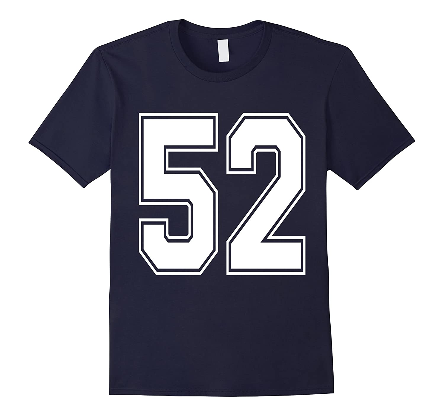 #52 Number 52 Sports. Jersey T-shirt My Favorite Player #52-T-Shirt