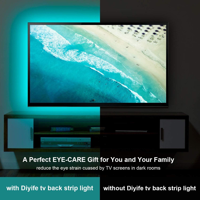 Diyife 2 Meter 60 Leds Retroiluminación De TV 5050 RGB Bias ...