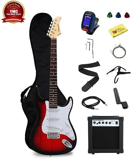 Stedman Pro Principiante Series 39-inch Guitarra Eléctrica con de 10 W Amplificador, funda
