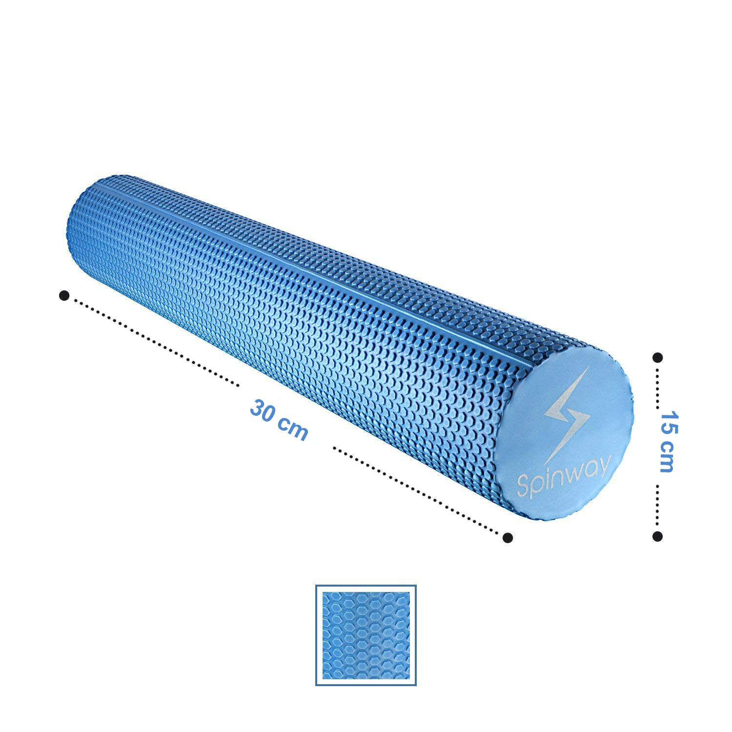 spinway Yoga Foam Roller Speckled Foam Rollers for Muscles Extra Firm High Density for Physical Therapy Exercise Deep Tissue Muscle Massage (Blue) by spinway (Image #5)