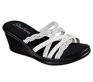 3374185d4e71 Skechers Women s Rumblers Baubles-Beaded Multi-Strap Slide Wedge Sandal   Amazon.co.uk  Shoes   Bags