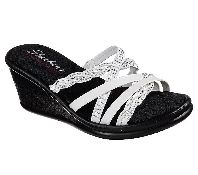ab4e06bf3 Skechers Women s Rumblers Baubles-Beaded Multi-Strap Slide Wedge Sandal   Amazon.co.uk  Shoes   Bags