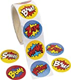 Superhero Sticker Roll - 100 pc