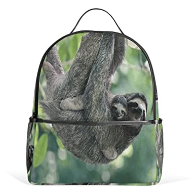 d69f23c9d8ec Amazon.com | Donnapink Cute Parent Sltoh With Baby Sloth School ...