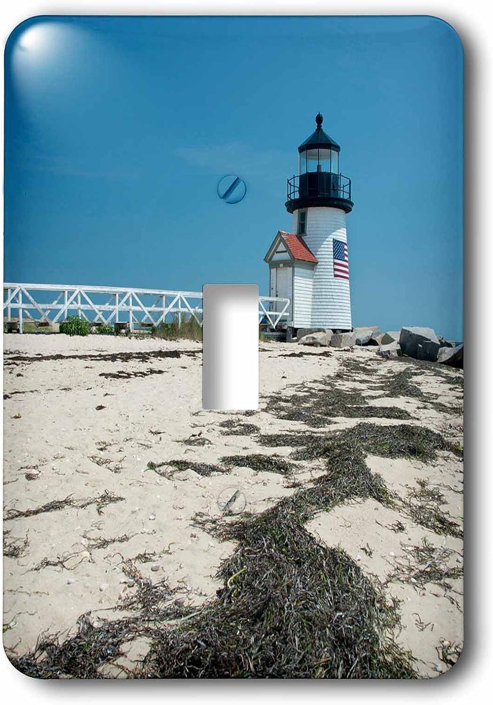 3dRose lsp_190220_1 USA, Massachusetts, Nantucket, Beach, Brant Point Lighthouse Toggle Switch