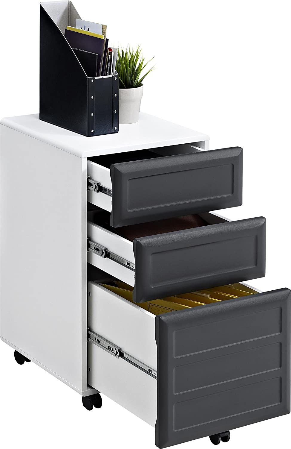 Amazon.com: Altra Pursuit Mobile File Cabinet, White/Gray: Kitchen ...