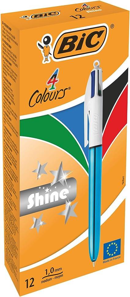 BIC 949896 4 colores shine – Bolígrafo color azul metálico cuerpo ...