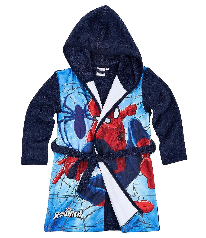Spiderman Ragazzi Accappatoio con cappuccio Coral fleece - blu marino