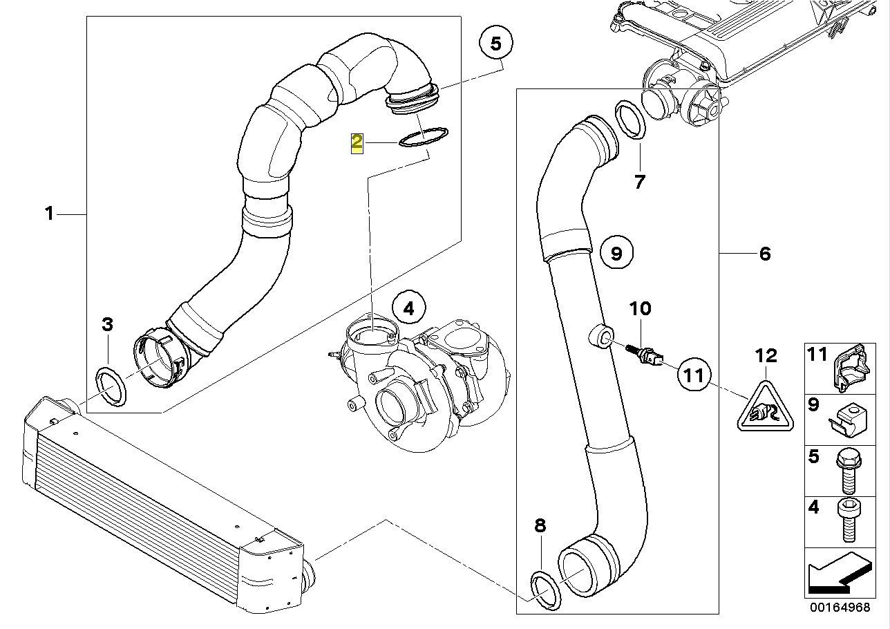 BMW Turbo Intercooler Pipe Hose Seal Gasket 7801222 11617801222: Amazon.es: Coche y moto