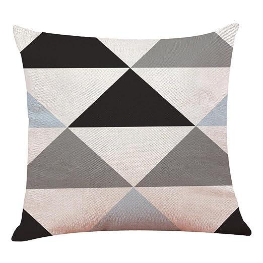 Fundas De Cojines, ❤️Xinantime Decoración del hogar Fundas de colchón Funda de almohada geométrica simple 45cm x 45cm (❤️E)