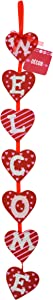 Decorative Valentine Hearts Hanging Welcome Sign