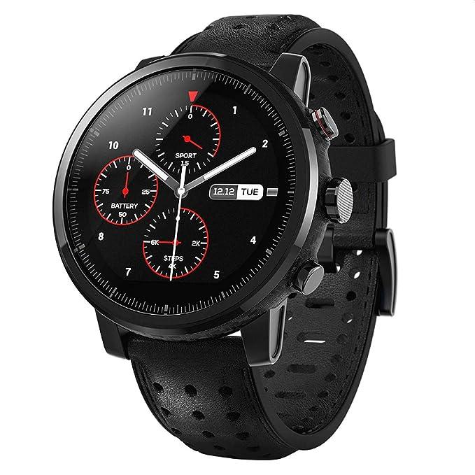 Amazfit Stratos 2S (2019) Smartwatch (Xiaomi) | Reloj Inteligente Deportivo con GPS | iOS y Android | Notificaciones Smartphone | Negro (Versión ...