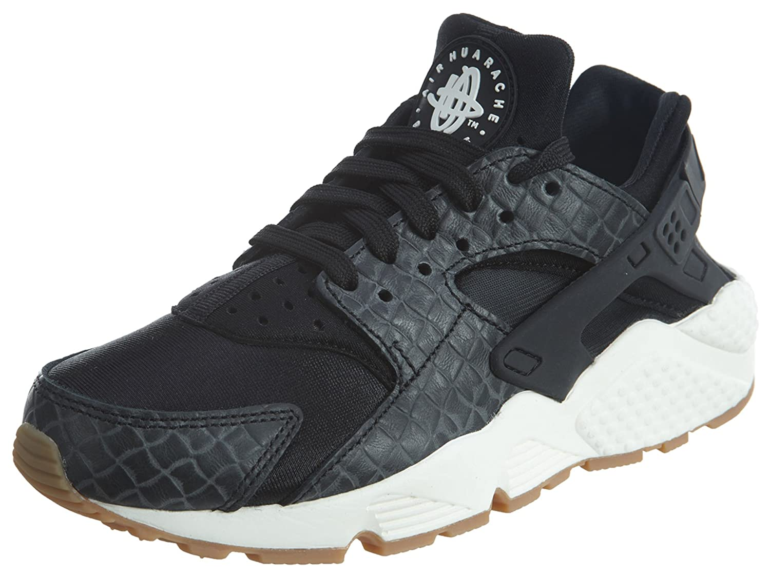 388c5ad7046f 683818-011 WOMEN WMNS AIR HUARACHE RUN PRM NIKE BLACK SAIL GUM MED BROWN  SIZE 8  Buy Online at Low Prices in India - Amazon.in