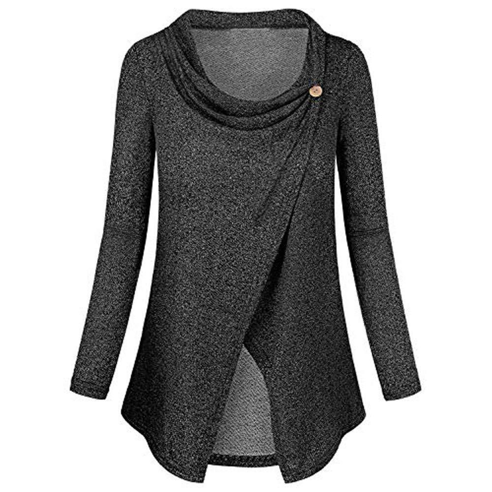St.Dona Women Long Sleeve Loose Top, Breastfeeding T-Shirt Blouse Flare Maternity Nursing Top