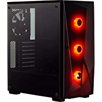 Corsair Carbide Series Spec-DELTA RGB Tempered Glass Mid-Tower ATX Gaming Case Black Cases CC-9011166-WW, Temprered Glass / Black