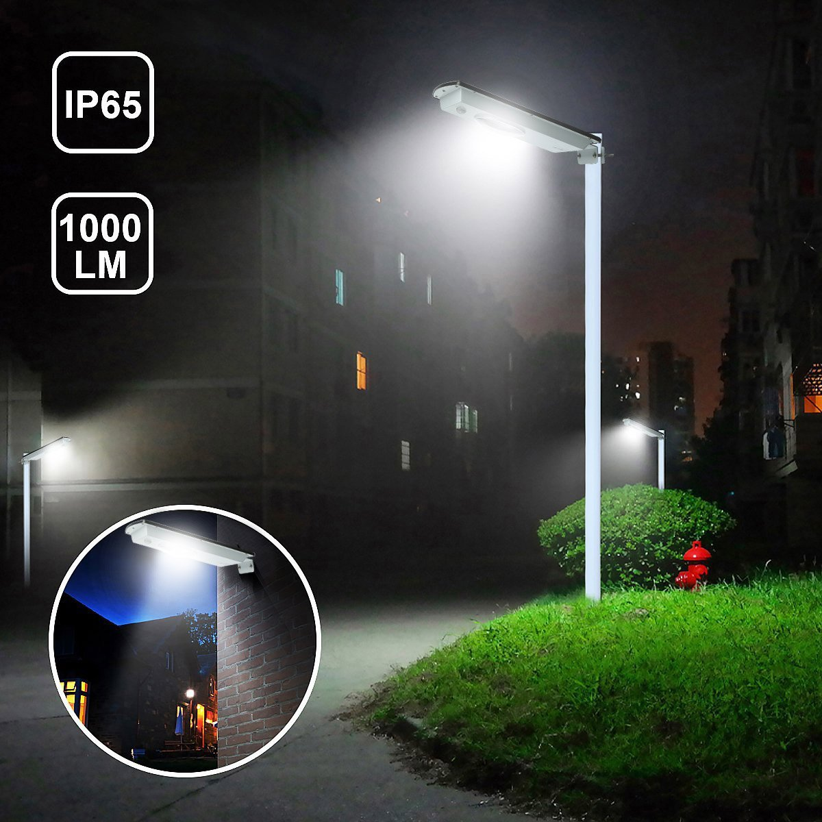 Fuloon 8W LED All in One Solar Light Street Light Garden Lamp (8W) by Fuloon