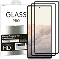 """[2 Pack] MEZON Full Coverage Tempered Glass for Google Pixel 6 Pro (6.7"""") - Crystal Clear Premium 3D Edge 9H HD Screen…"""