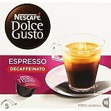 Nescafé Dolce Gusto Espresso Intenso Descafeinado Cápsulas de Café - 16 Unidades