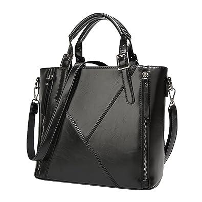 45fe5c0158dc Amazon.com: ABage Women's Faux Leather Handbag Designer Satchel ...