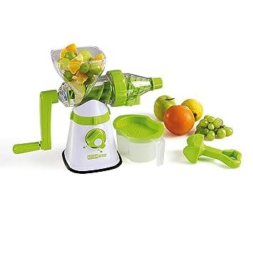 Compra Kitchen Artist Licuadora Manual Cortador en Espiral Mano manivela Frutas y Verduras Exprimidor (Depósito colector, Pulpa de Filtro, vertedor, ...