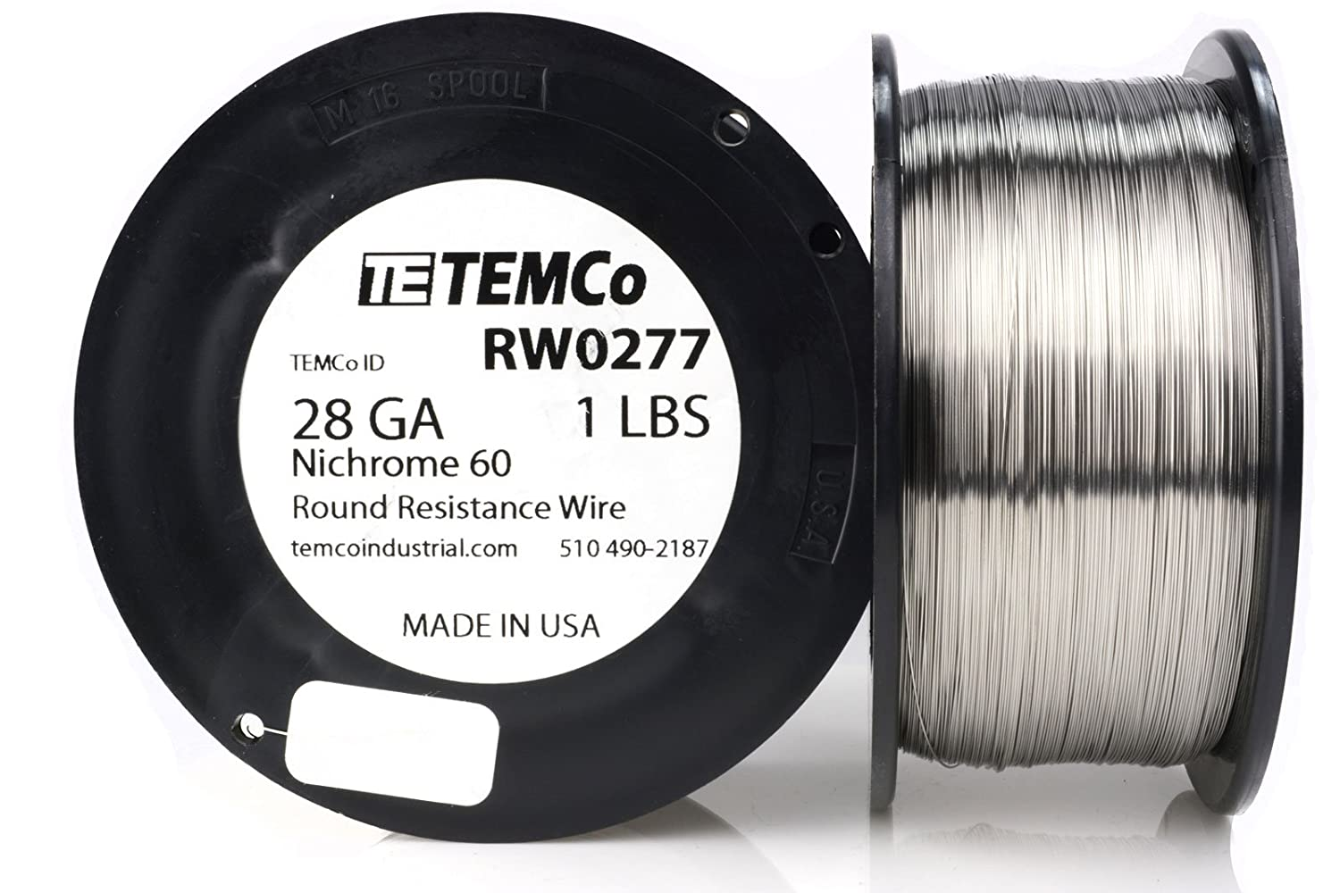 TEMCo Nichrome 60 series wire 28 Gauge 50 Ft Resistance AWG ga ...