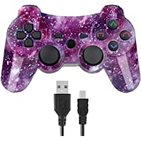 Kepisa Control Inalámbrico Bluetooth para Playstation 3 PS3 con Cable USB (Starry Sky)