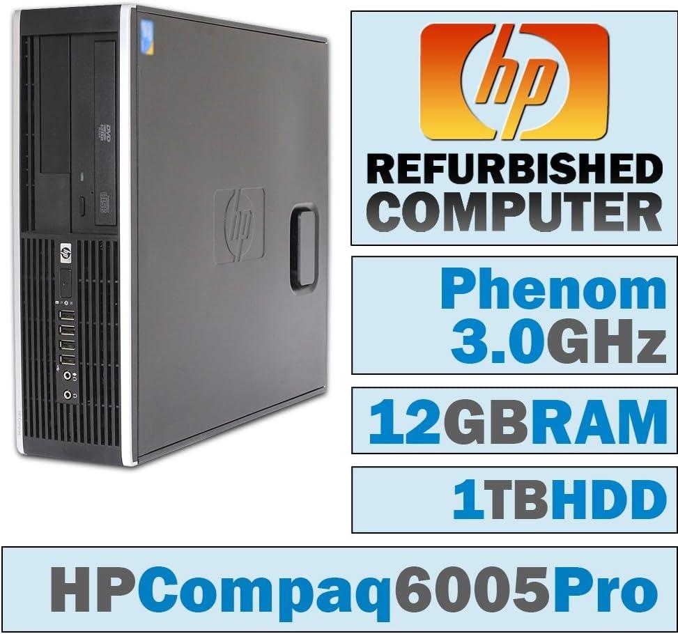 HP 6005 Pro SFF/Phenom II X4 B95 @ 3.00 GHz/12GB DDR3/1TB HDD/DVD-RW/No OS