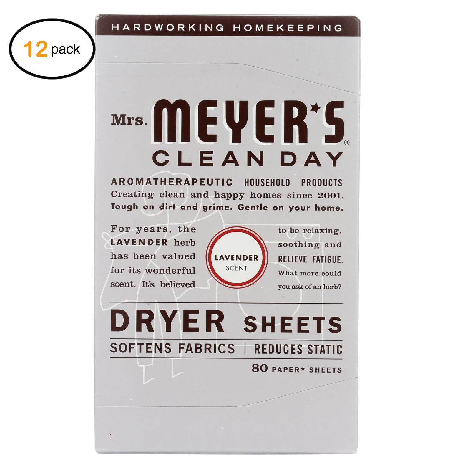 Mrs. Mеyеr's Dryеr Shееts - Lavеndеr - Casе оf 12-80 Shееts - Bulk Buy by Mrs. Mеyеr's (Image #1)