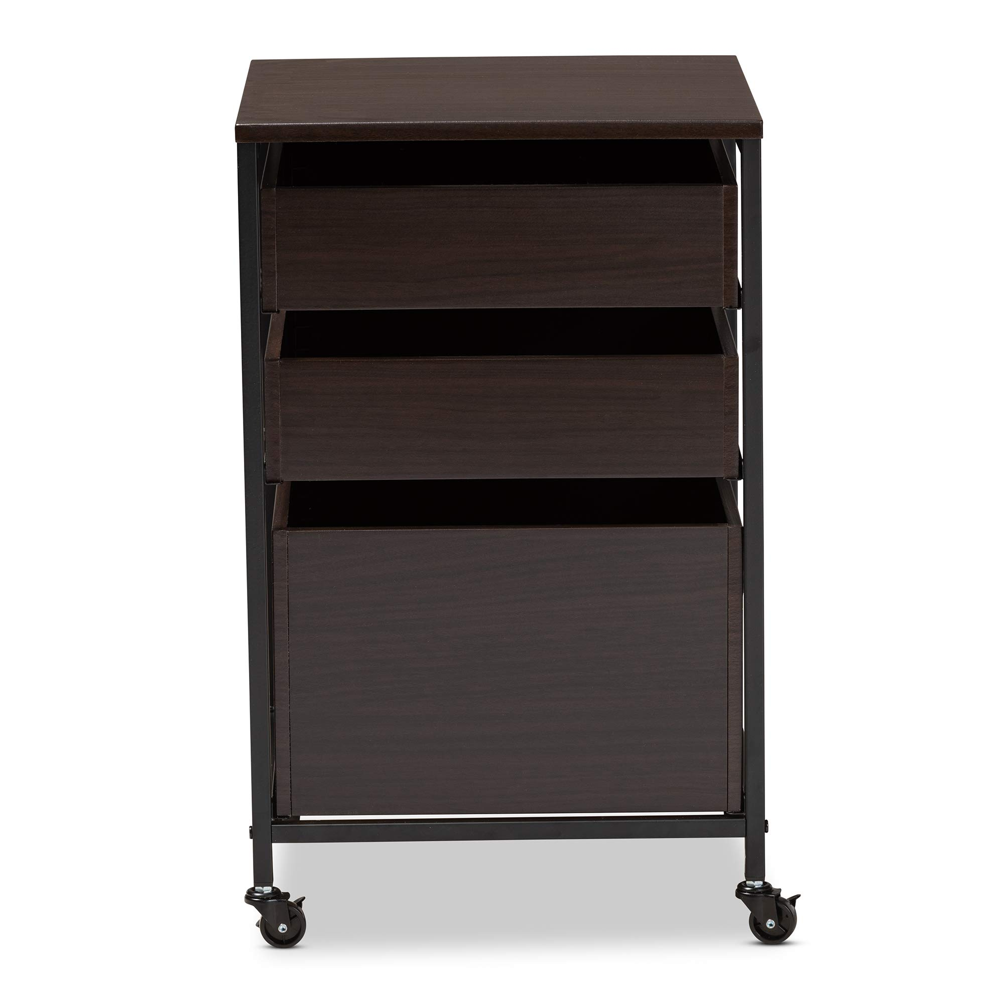 Baxton Studio 155-9688-AMZ Multipurpose Shelving and Cabinets, One Size, Espresso by Baxton Studio (Image #6)