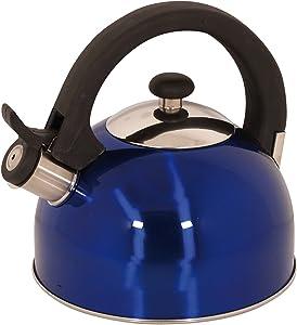 Magefesa 2.1-Quart Sabal Stainless Steel Tea Kettle, Blue