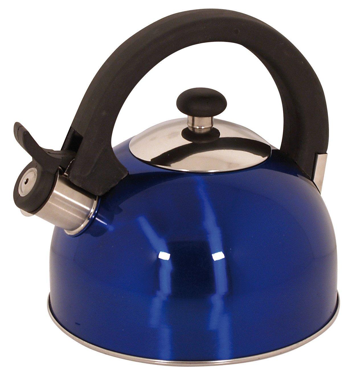 Magefesa 2.1-Quart Sabal Stainless Steel Tea Kettle Blue 10